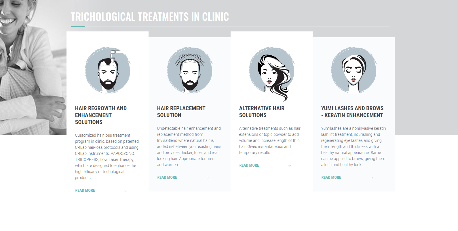 Advanced Hair Solution, site for clinic